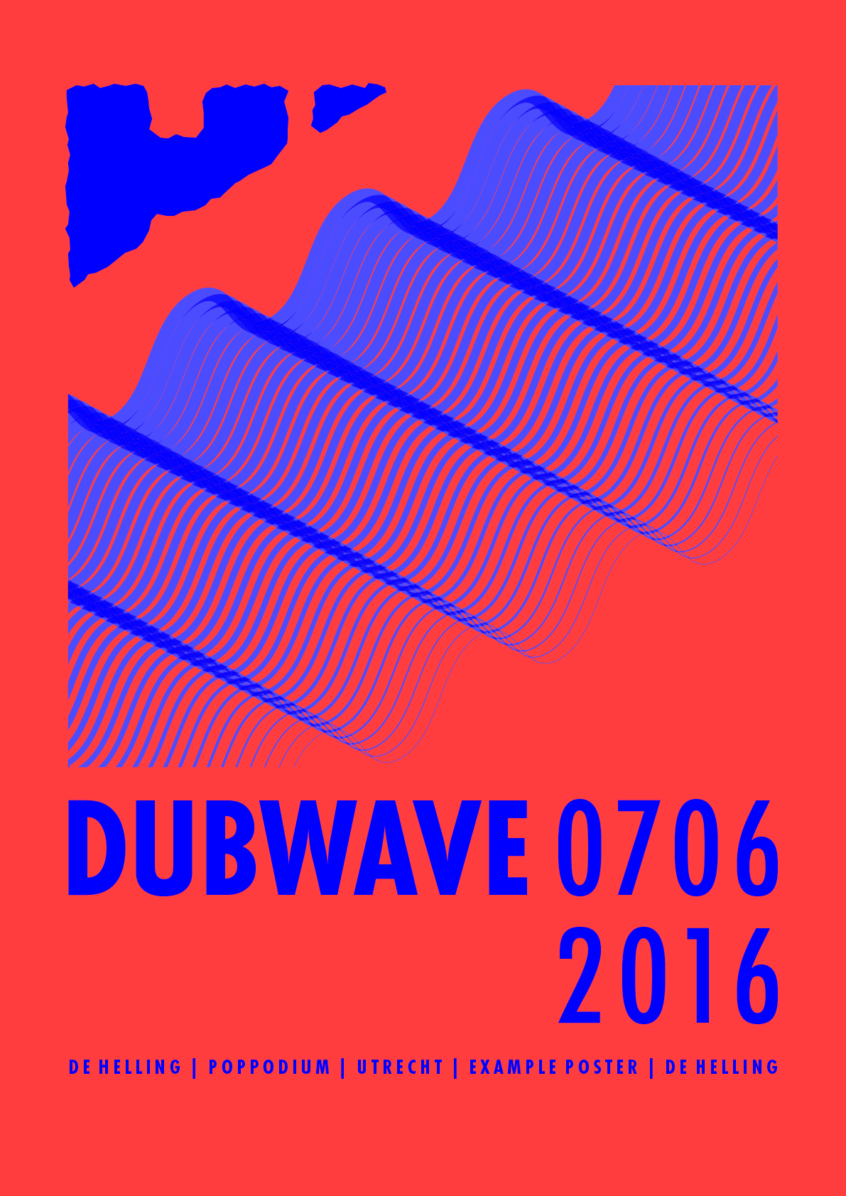 Example poster 'DUBWAVE'