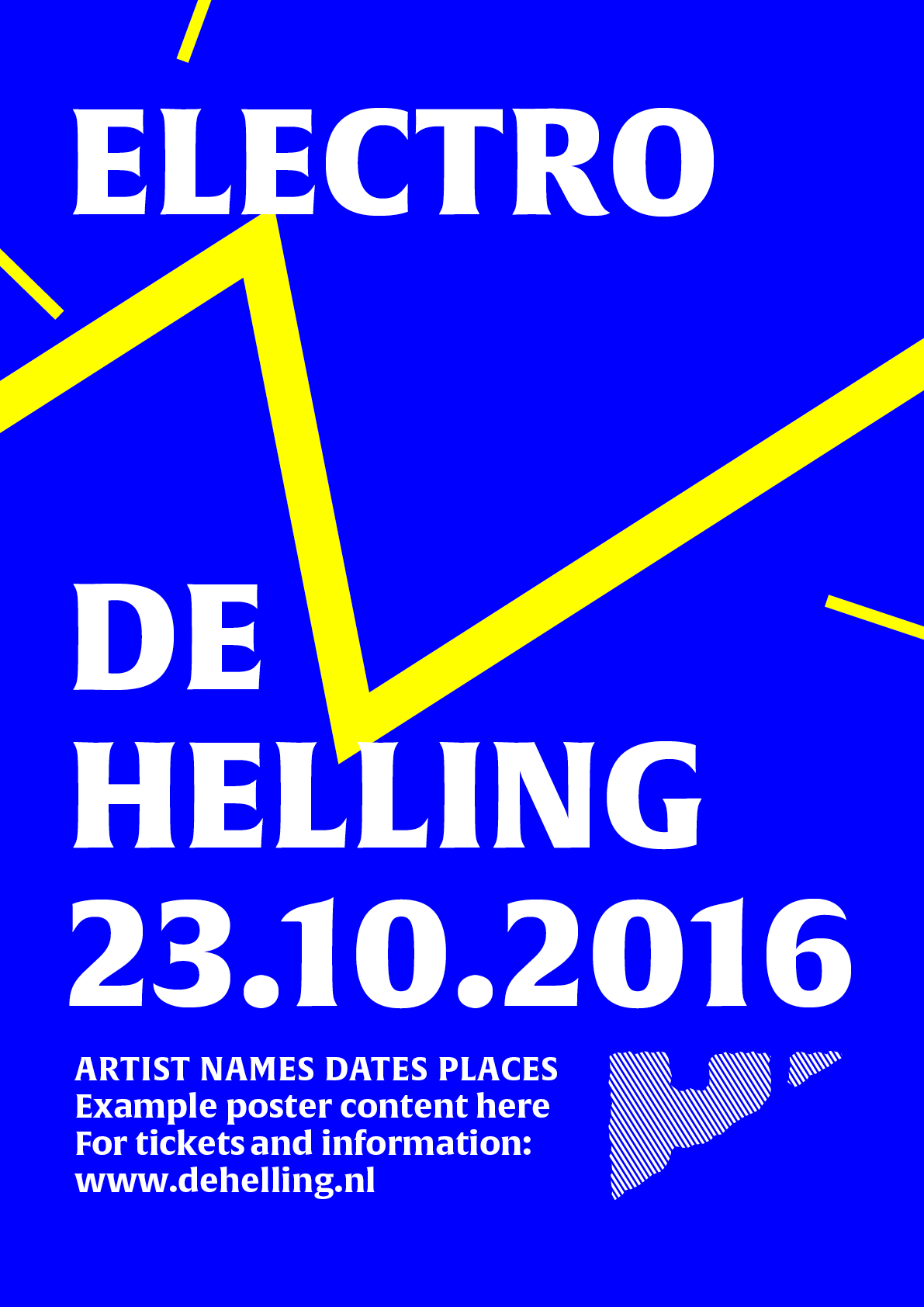 Example poster 'ELECTRO DE HELLING'
