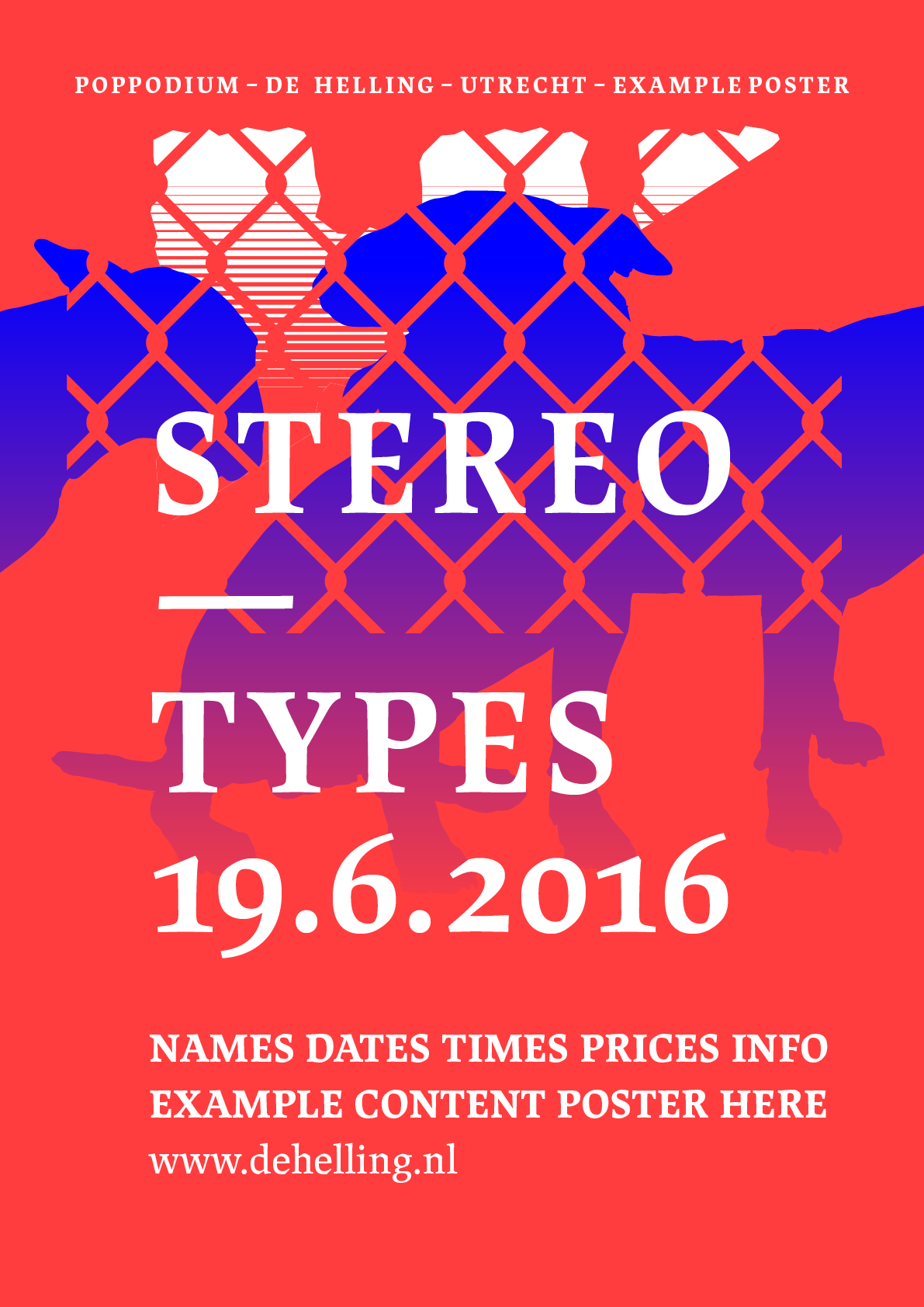 Example poster 'STEREO — TYPES'